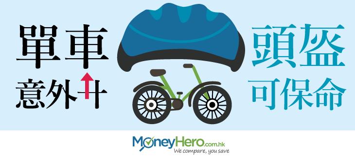 單車意外升,頭盔可保命