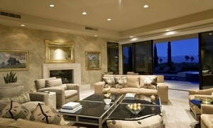 Spacious Living Room In House