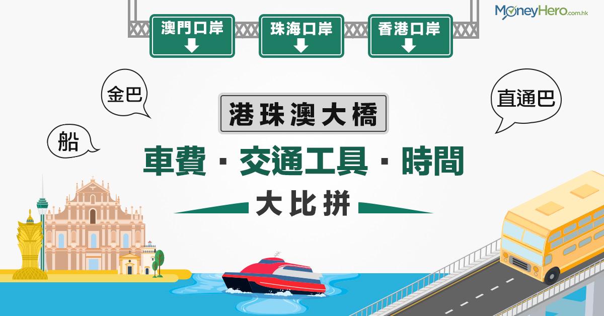 【 港珠澳大橋 】來往澳門 / 珠海交通 車費時間大比拼