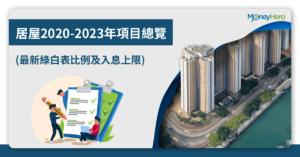 居屋2020-2023年項目總覽(2020最新4大屋苑+最終售價比較)