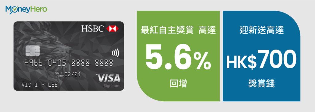 現金回贈信用卡 Visa Signature
