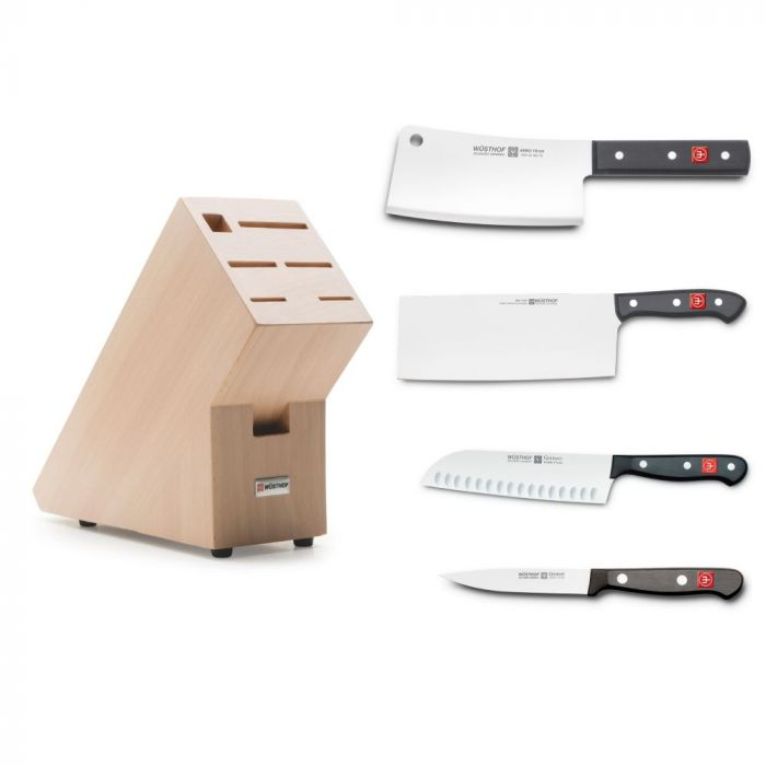 SOGO 週年慶 Wusthof Gourmet 中式刀具4件連刀座套裝
