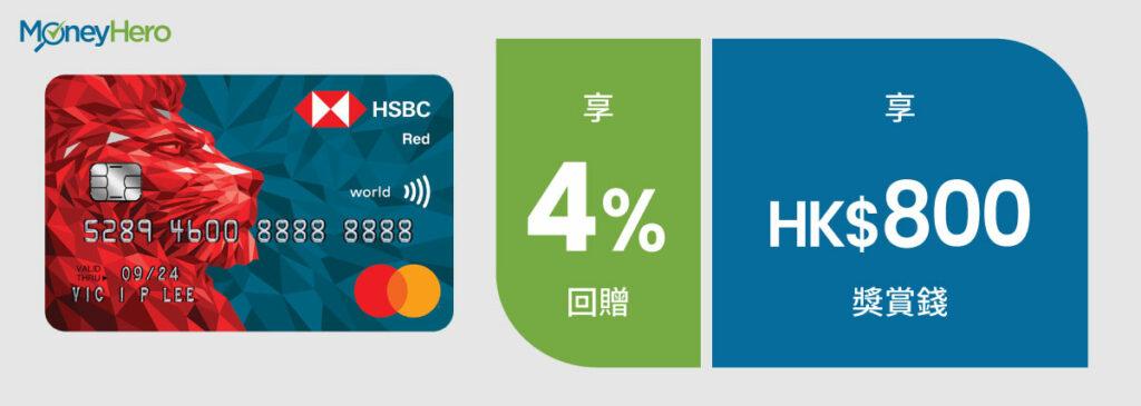 網購信用卡 滙豐Red信用卡