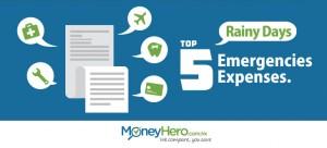 Top 5 Expenses in Rainy Days
